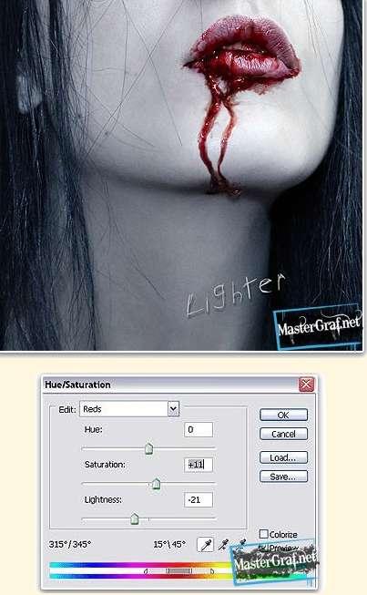 Как в фотошопе сделать реалистичную кровь в